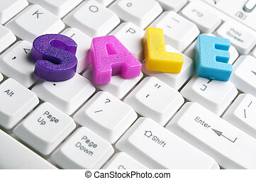 Sale word made by colorful letters