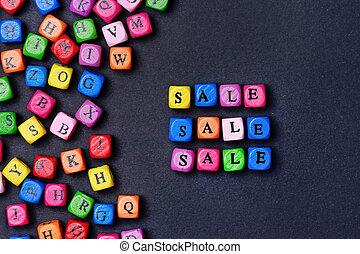 Sale word on black background