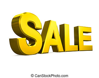 Sale word on white background