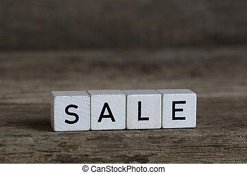 Sale, written in cubes