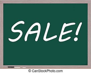 Sale Written on Blackboard