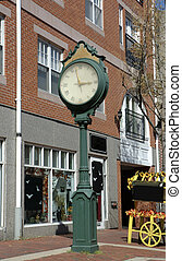 Clock of Salem city the popular witches American city, New-England, Mass