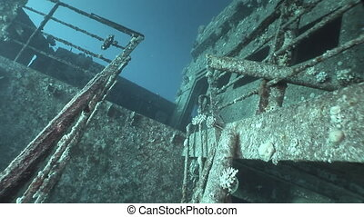 Salem Express shipwrecks underwater in the Red Sea in Egypt....