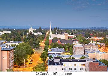 Salem, Oregon, USA downtown city skyline