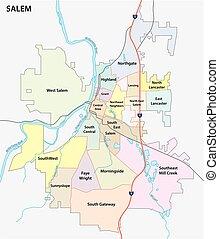 salem road and nighborhood map