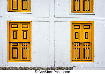 Salento Building Details - View of a colonial building with ...