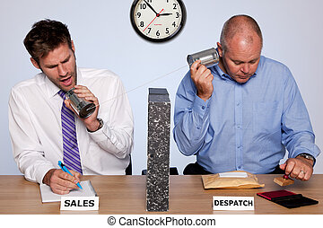 Sales and despatch department - Amusing photo showing the...