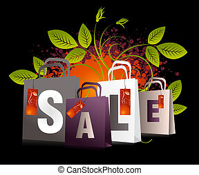 Sales and discount concept Illustration