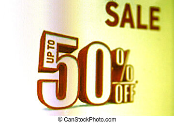 Sales and discount concept