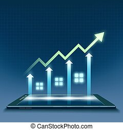 Growth of financial chart