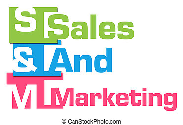 Sales And Marketing Abstract Colorful Stripes
