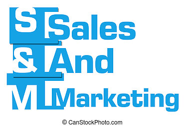 Sales And Marketing Blue Abstract Stripes
