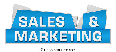 Sales And Marketing Blue Squares On Top