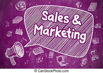 Sales And Marketing - Business Concept. - Business Concept....