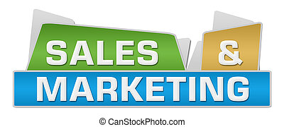 Sales And Marketing Colorful Squares On Top