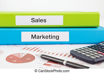 Sales and marketing documents with reports