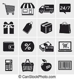Sales and retail icons