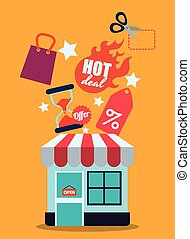 sales and retail design, vector illustration eps10 graphic