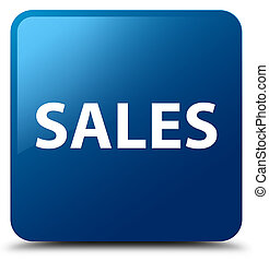 Sales blue square button