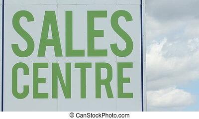 Sales Centre. Timelapse clouds.