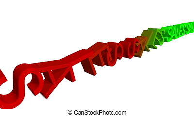 Sales down domino effect concept