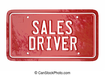 Sales Driver Top Seller Car Vehicle License Plate Words 3d