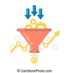 Sales funnel concept.