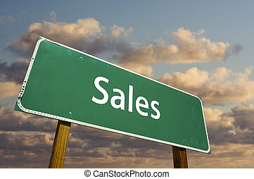 Sales Green Road Sign