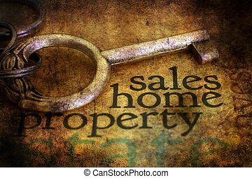 Sales home property grunge concept