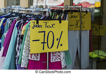 sales in the textile industry - the sale has already started...