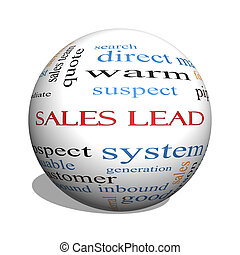 Sales Lead 3D sphere Word Cloud Concept with great terms...