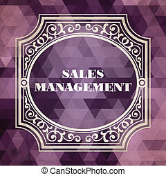 Sales Management Concept. Purple Vintage design.