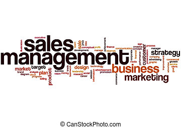 Sales management word cloud