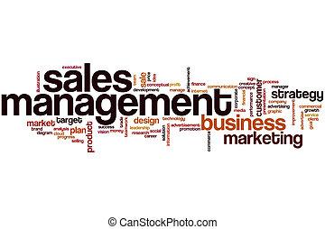Sales management word cloud