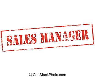 Sales manager - Rubber stamp with text sales manager inside,...