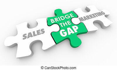 Sales Marketing Bridge the Gap 3d Illustration