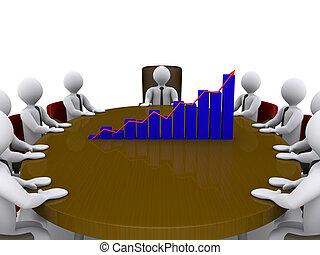 Sales meeting amongst businessmen