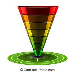 Sales or Conversion Funnel, Vector