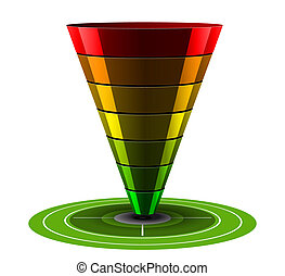 Sales or Conversion Funnel, Vector