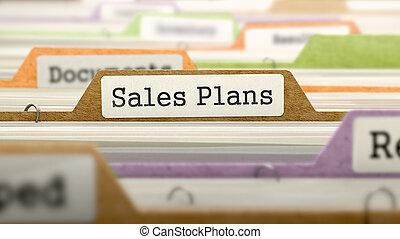 Sales Plans Concept. Folders in Catalog.