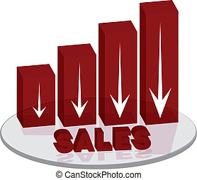 sales plinth red down text