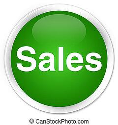 Sales premium green round button