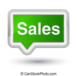Sales prime green banner button