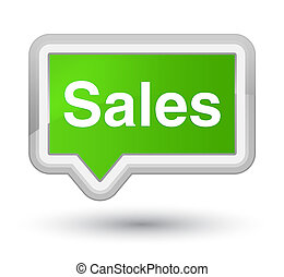 Sales prime soft green banner button