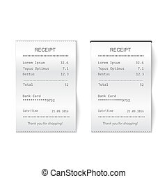 Sales printed receipt. Bill atm check - Sales printed...