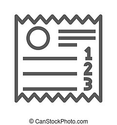 Sales Receipt Thin Line Vector Icon
