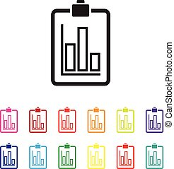 sales report graph chart colourful set