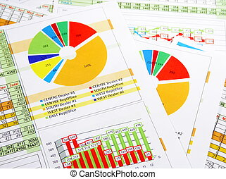 Sales Report in Graphs and Charts