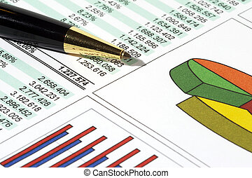 Sales Report and Chart with pen