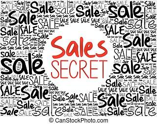 Sales Secret word cloud background